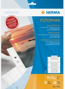 Herma photo sleeves 9x13 cm horizontal - 10-pack white