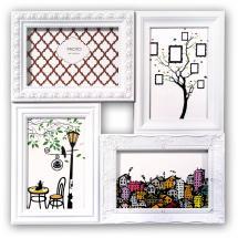 ZEP Cordoba Collage frame Plexiglass White - 4 Pictures