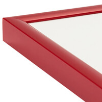 Colourful picture frames in red