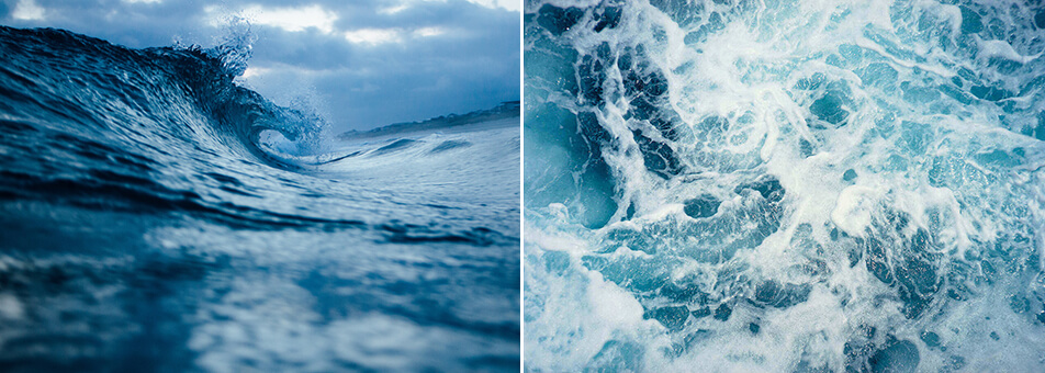 Blue posters - Posters with water and waves